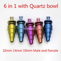 prego de quartzo e unha venda por atacado-Colorido Universal Domeless Gr2 6in1 Titanium Nails 101419mm Masculino e Feminino com bacia de quartzo