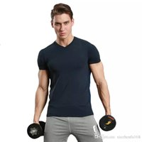 Wholesale Sports Shirts Collar - Leisure sports T-shirt v collar short-sleeved fitness fitness uniform running training clothes