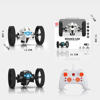 Wholesale Radio Control Stunt Car - Radio Control Vehicles Remote Control Bounce Car 2.4GHz RC Jumping Car 360 Degree Rotation Stunt Car Toy With LED Lights And Music