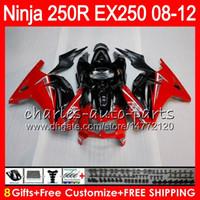Wholesale Ninja Top - 8Gifts 23Colors For KAWASAKI NINJA ZX250R 08 09 10 11 12 EX 250 16HM9 TOP black red ZX-250R ZX 250R EX250 2008 2009 2010 2011 2012 Fairing