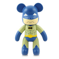 Wholesale Movable Dolls Christmas - Cartoon Toy Genuine Violent Bear Doll Ornaments 10 Inch Large Cartoon Batman Bear Toy Movable Joints for Christmas Kids Lover Gift