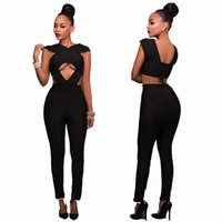 Wholesale Overalls For Ladies - Brief style fashion ladies sexy jumpsuit night club bodysuit overalls slim jumpsuit for women free shipping