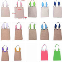 Wholesale easter gifts for adult children for sale - Group buy Easter Bunny Ears Bags Canvas Egg Packing Handbag Bags For Children Adult Festival Party Christmas Halloween Supplies Gifts WX B31
