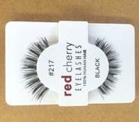 Wholesale Transparent Terrier False Eyelashes - 12 pairs pack False Eyelashes Soft Red Cherry Eyelashes Human Hair Eye Lashes Makeup Beauty Tools Eyelash Extension