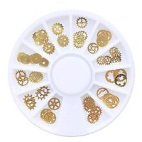 Wholesale Metal Nail Studs - New Nail Decorations Steam Punk Parts Clocks Studs Gear 3D Nail Art Wheel Metal Manicure Pedicure DIY Tips Ornaments 2017