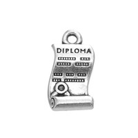 Wholesale Graduation Floating - Hottest Design Floating Pattern Diploma Charm Antique Silver Graduation Charm Jewelry