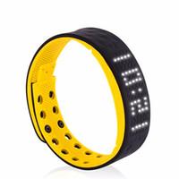 ingrosso braccialetti di salute all'ingrosso-All'ingrosso - TW2 Smart Watch LED bianco resistente all'acqua Pedometro Salute Monitoraggio calorie Tracker Alarm Smart Wristband Telefono Otg P20