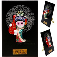 Wholesale Wang Art - Type of cartoon Figurine opera character mask pendant ornaments Home Furnishing abroad to send foreigners gifts Wang Zhaojun