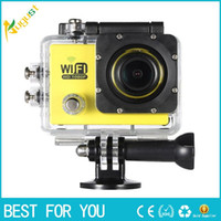 Wholesale White Pc Cam Camera - Full HD Wifi Action Sports Camera DV Cam 2.0inch LCD 12MP 1080P 30FPS 140 Degree Wide Lens Waterproof for Car DVR FPV PC Camera Diving Bicyc