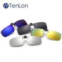Wholesale Wholesale Night Sights - Wholesale- Tenlon Glasses Silicone Polarized Clip On Sunglasses Men UV400 Myopia Women Sunglasses Sun Glasses Night Vision Lens