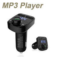Wholesale Bluetooth Handsfree Motorcycle - Car Kit Handsfree Wireless Bluetooth FM Transmitter LCD MP3 Player USB Charger for iphone 7 motorcycle bluetooth kit OTH120