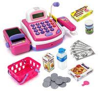 Wholesale Wholesale Cash Registers - Cash Register Playset Light up Cash Register with Sounds - Roleplay Theme - Assorted Light up Cash Register Items#123-847