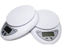 baterias para báscula al por mayor-Hot Portable Digital Scale 5Kg 1g Cocina electrónica Good Helper Electronic Weight Scale 5Kg 1g batería no incluida envío rápido j103