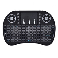 Mini I8 2.4GHz RII Air Mouse Multi-luz Teclado Inalámbrico Touchpad Control Remoto Para TV BOX Juego Play Tablet PC DHL OTH500