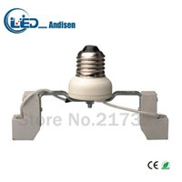 Wholesale R7s Lamp Holder - E27 TO R7S adapter Conversion socket High quality material fireproof material E12 socket adapter Lamp holder