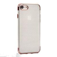 stoßfänger handys großhandel-Luxus Galvanik Bumper Case weiche TPU Clear Phone Mobile Rückseite für iPhone 7 plus 7 6S