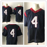 Wholesale Elite Football - New Football Jerseys #4 New 2017 Draft Jersey Popular Players Blue And Red Color Elite Size 40-56 Stitched Mix Order All Football Jersey