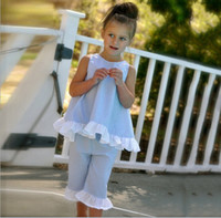 Wholesale grid girls clothing - New summer INS grid set Kids girl lattice outfits Petals side big bow vest and pant suit baby clothes