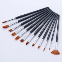 Wholesale PP FASHION Professional Paint Brush Set Perfect for Oil Painting with a Free Carrying Box