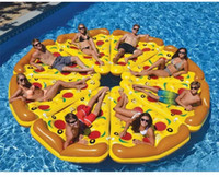 Wholesale Swimming Pools Wholesalers - Air Mattress Swimming Pool Water Toy Giant Yellow Inflatable Pizza Slice Floating Bed Raft Swimming Ring