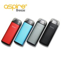 Wholesale Vape Replacement Battery - Wholesale aspire breeze vape kit black red blue grey with 650mah breeze built-in battery .6ohm replacement coils 100% original