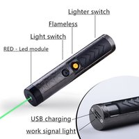 Wholesale Laser Lighter Wholesale - Laser Flameless Lighter, WindproofSwitch Electronic USB Rechargeable Red light Pet tracking command pointer