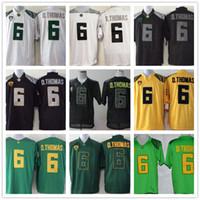 preços de camisola de futebol venda por atacado-NCAA Oregon Ducks Faculdade Verde Amarelo Preto Branco 6 D. Thomas Anthony Thomas Camisas de Futebol De'Anthony Preço de Atacado