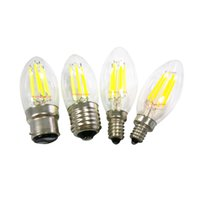 Wholesale candle bulbs led e27 resale online - High Bright Filament LED Bulbs Dimmable W W W light bulbs LED Filament E27 E12 B22 E14 Led lamp LM W Warm White