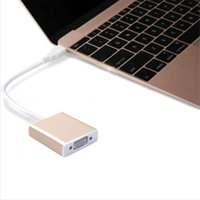 Wholesale Types Vga Connectors - USB 3.1 Type C to VGA HDMI Adapter Converter Video Cable Male to Female Connector 1080PP HD for Macbook Laptop