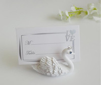 Wholesale Number Place Cards - 2016 Resin Swan Place Card Holders Wedding Restaurants Cafes Table Photo Memo Number Name Clip For Wedding Event Party Decoration