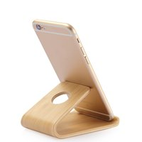 Wholesale Wood Ipad Holder - Wholesale Universal Wooden Stand Phone Holder Bamboo Wood Stand Holder for iPad for iPhone Watch SE 6 6S Samsung S6 S7 Note5