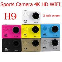 Wholesale fix cmos camera online - H9 Ultra HD K P WiFi Sport Action Camera Waterproof DV Helmet Video Camcorder DVR Degree Wide Angle MOQ