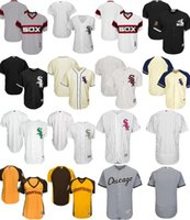 Wholesale Blank White T Shirts - 2017 Chicago White Sox Baseball Jerseys Stitched Home Road Men Women Children White Grey Yellow Black Cream Jerseys Flex Cool Blank T-shirts