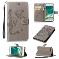Wholesale Case S4mini - For Samsung S7 S3mini S4mini S5mini S6Edge S6Edge Plus S7Edge S7Edge Plus Embossed Butterfly Purse Holster Insert Cards