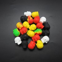 Wholesale Screw Skull - 15ml Skull Jar Non-stick Silicone Dab Wax Oil Concentrate Container Jar Vial Screw Top 1pcs lot