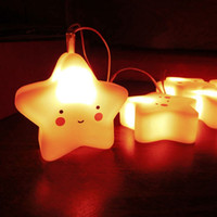 online shopping Led Energy Star - Wholesale- Article 1.1 mMeters Lights LED Energy-saving PVC Cartoon Stars Twinkle Light Pink Star Small Lights Series