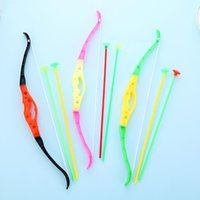 sport shooting supplies - Creative Mini Bow And Arrow Toys Children Shooting Sports Body Exercise Toys Kids Birthday Party Favors Supplies