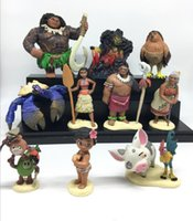Wholesale Toys Ana - 2017 Sell like hot cakes Mo ana action Figure Toy Moa na Maui Heihei Sina Chief Tui Action Figures Toy Doll For Children Xmas Birthday Gift