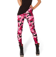 Wholesale hot girls tight clothes resale online - Pink camouflage pants Sexy tight Hot printing women gym clothing Girl sport wear Fitness training sportwear Exercise trousers