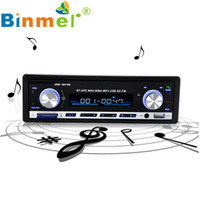 Wholesale Usb Sd Aux Car Player - Wholesale- Car MP3 Audio Player Bluetooth Car Stereo Audio CD In-Dash FM Aux Input Receiver SD USB MP3 Radio Remote control HandsFree N1213