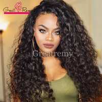 outlet human - Factory Outlet Deep Wave human Hair Wigs Unprocessed Brazilian Peruvian Malaysian Full Lace Wigs Human Hair Dyedable Lace front Hair Wig