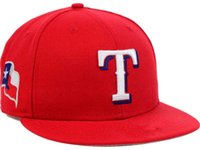 Wholesale Black Star Ball - 2017 style Arrival Texas Rangers Baseball Cap Embroidered Team logo MLB Fitted Cap Famous Star Hip Hop Hat