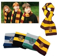 Wholesale Cashmere Scarves Prices - Factory Price Harry Potter Scarf Gryffindor School Unisex Knitted Striped Scarf Gryffindor Scarve Harry Potter Hufflepuff Cosplay Scarf