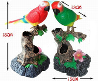 Wholesale Recording Parrot - Novelty Toys Voice Control Parrot Learning To Speak Recording Simulation Talking Electronic Pet With Brush Pot