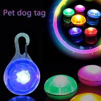 Wholesale Dog Blinker Lights - Pet LED Flash Safety Night Light Keychain Tag Anti-lost Flashing Dogs Blinker Collars Pendant Equipment Dog Tag Pet pendant IA031