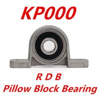 Wholesale Shaft Block Bearing - Wholesale- 10pcs lot KP000 10mm kirksite bearing insert bearing shaft support zinc alloy mounted bearings pillow block