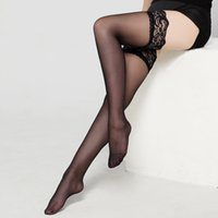 Wholesale Hot Lingerie Stockings - Sexy lingerie lace stocking black transparenthot sexy socks hot sexy legs long tube high tube thigh stockings lovely socks