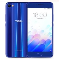Wholesale Meizu Mx Dual Core - Original Meizu Meilan X MX Cell Phone MTK Helio P20 Octa Core 4GB RAM 64GB ROM Android 5.5 inch 2.5D Glass 12.0MP Fingerprint Smart Phone