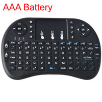 Wholesale Andriod Battery - 2.4G Mini i8 Wireless Keyboard with Touchpad Air Mouse AAA Battery for Tablet PC Andriod TV Box HTPC IPTV
