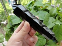 Wholesale 15 CM Natural obsidian Quartz Crystal Double Terminated Wand Healing